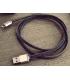 LIFESTAR Apple MFI Cable Denim Blues Lightning 1m