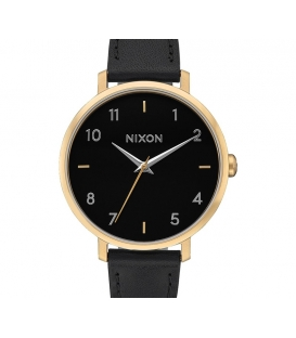 Montre Nixon Arrow Leather Gold Black