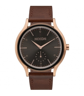 Montre Nixon Sala Leather Rose Gold / Burgundy