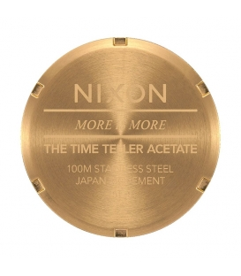 Montre Nixon Time Teller Acetate Multi Gold