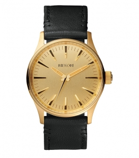 Montre Nixon Sentry 38 Leather Gold / Black