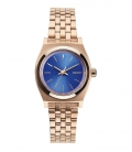 Montre Nixon Small Time Teller Rose Gold / Cobalt