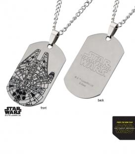 Plaque Star Wars Faucon Millenium
