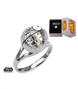Bague Star Wars Death Star 3D Taille US 6