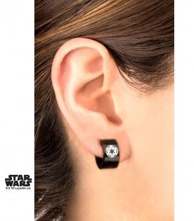 Boucles d'oreilles Star Wars Empire Plaqué Noir