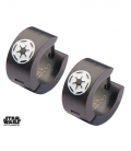 Black Star Wars Empire Earrings