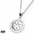 Star Wars Stainless Steel and gem Empire Pendant