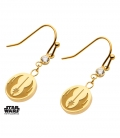 Golden Metal Star Wars Rebel Earrings