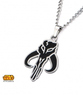 Black Star Wars Stainless Steel Mandalorian Pendant