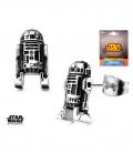 Boucles d'oreilles Star Wars R2D2 en 3D