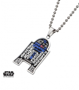 Star Wars R2D2 FONT Pendant
