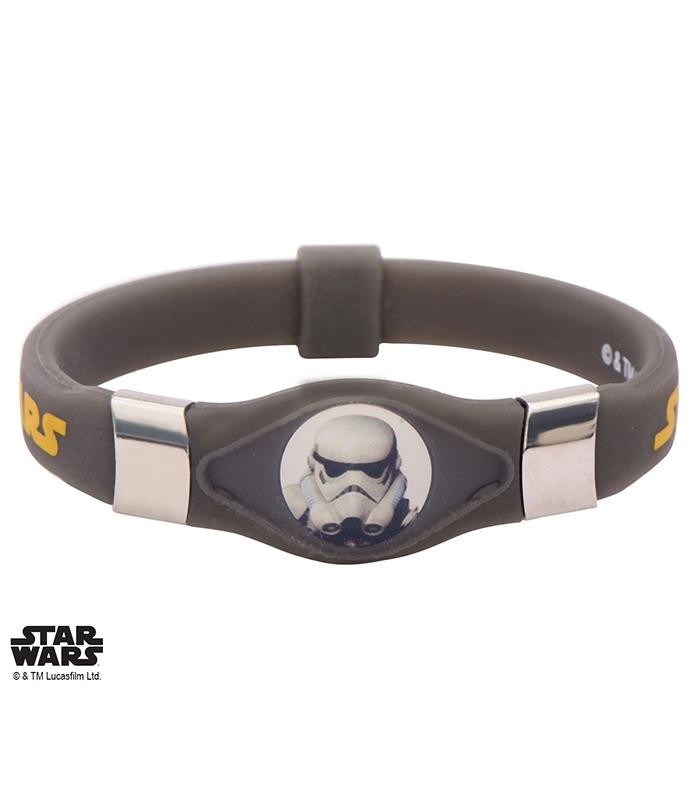 Bijoux Phosphorescent star wars storm trooper symbol bracelet