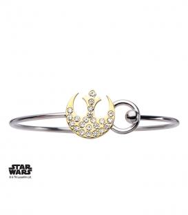 bracelet Rebelle Star Wars Doré et Gemme