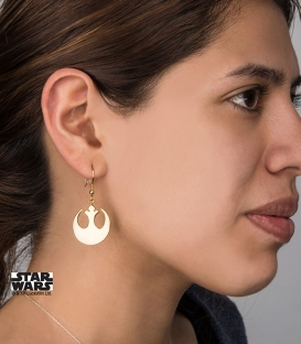 Golden Star Wars Rebel Earrings