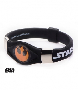 Orange Star Wars Rebel Silicone Bracelet