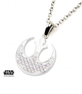 Star Wars Silver Plate Geniune Crystal Pendant