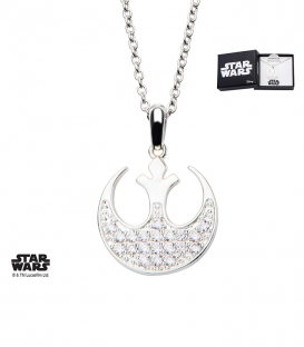 Pendentif Star Wars Metal blanchi Strass Rebelle