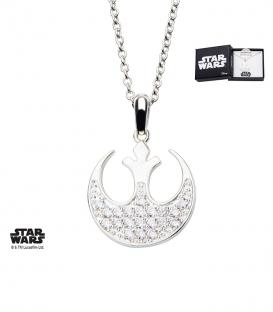 Pendentif Star Wars Metal blanchi Strass Rebelle