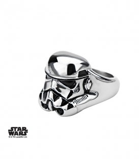 Bague Star Wars Storm Trooper 3D Inox Taille US 10