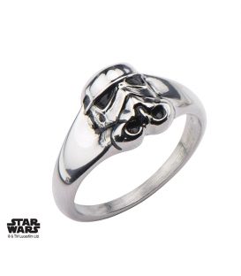 Bague Star Wars Storm Trooper 3D Inox Taille US 6