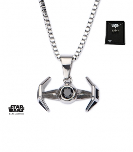 Pendentif Star Wars Inox Tie Fighter 3D