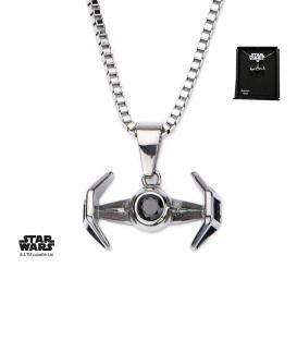 Pendentif Star Wars Inox Tie Fighter 3D