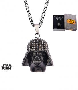 Pendentif Star Wars Inox noir Dark Vador 3D