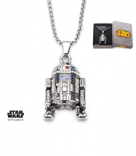 Star Wars 3D Pendant Inox and R2D2 Gem