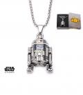 Pendentif Star Wars Inox 3D et gemme R2D2