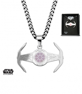 Pendentif Star Wars Inox Tie Fighter Rose