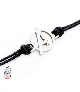 Bracelet Corde Marvel Symbole Avengers Inox