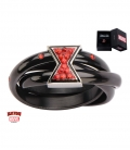 Bague Marvel inox plaqué noir symbole Black Widow taille US 6