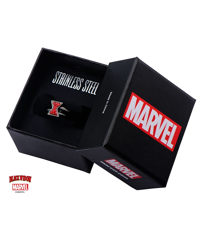 Marvel Ring Black Widow Stainless Metal