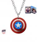 Pendentif Captain America Bouclier Inox