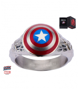 Stainless steel metal marvel ring. Captain America Shield Symbol US size 10