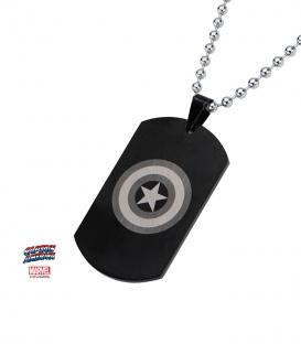 Captain America Shield Pendant. Black Stainless Steel metal