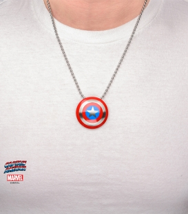 Pendentif Small inox Captain America Chainette