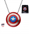 Captain America Shield Pendant. Stainless Steel metal