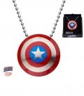 Pendentif Small inox Captain America Chainette