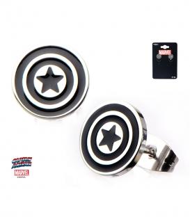 Marvel Earrings Stainless Steel Metal Captain America Symbol
