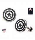 Marvel Earrings Stainless Steel Metal Captain America Symbol