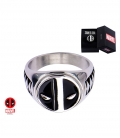 Bague Marvel inox Masque Deadpool Taille US 12