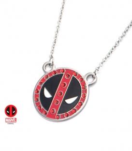 Pendentif Marvel masque Deadpool avec gemme rouge