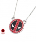 Deadpool mask Marvel Pendant with red gemstone
