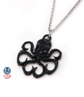 Hydra Marvel Pendant with black gemstone