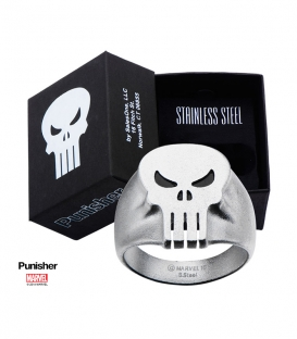 Marvel Punisher Ring Stainless Steel Metal Us SIze 10