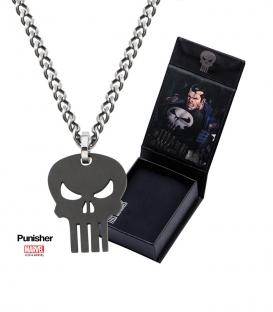 Pendentif Marvel Punisher Inox Plaqué Noir