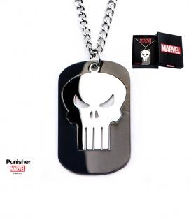 Pendentif Marvel Punisher Inox avec gemme