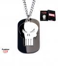 Pendentif Marvel Punisher Militaire plaqué noir