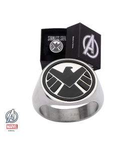 Bague Chevalière Marvel Shield Inox Taille 10 US